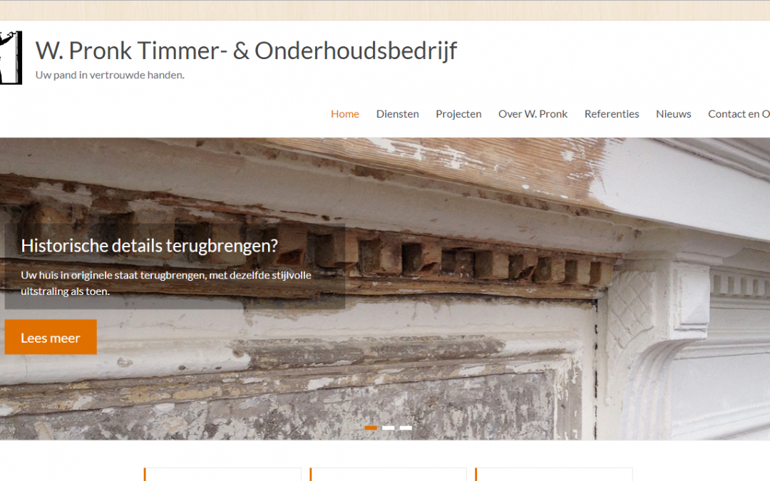 W. Pronk Timmer- en Onderhoud