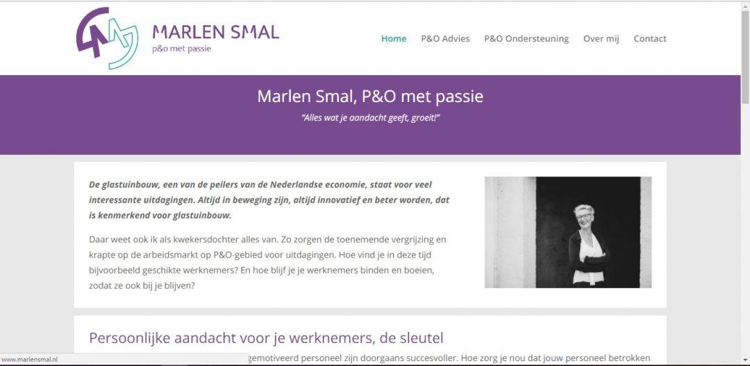 Websiteteksten geschreven voor Marlen Smal